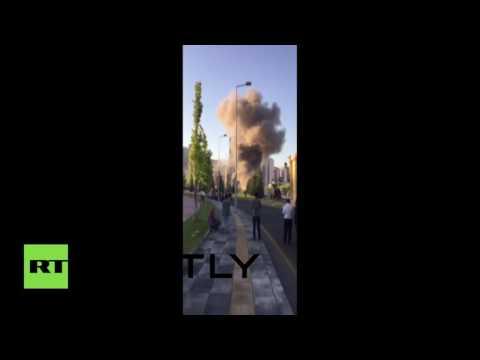 بالفيديو لحظة قصف القصر الرئاسي التركي في أولى ساعات الانقلاب