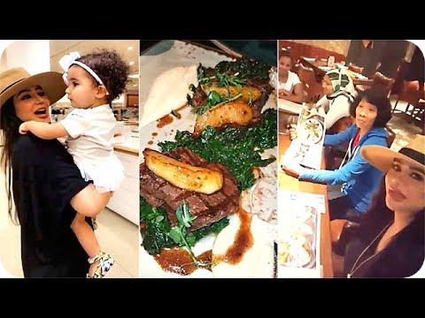 شاهد: لجين عمران ومهيرة عبد العزيز يعزمون الخدم على لحم الغزال
