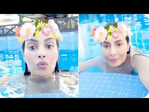 شاهد: صفاء حبيركو  بالمايوه في حمام السباحة