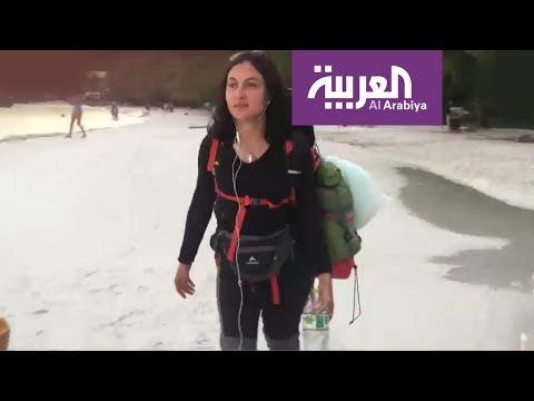 رحالة يمنية تجوب العالم ومعها 600 دولار