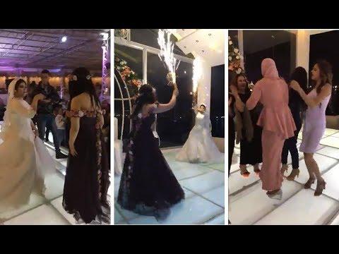 شاهد: رقصة مجنونة لعروس وصديقتها بالألعاب النارية
