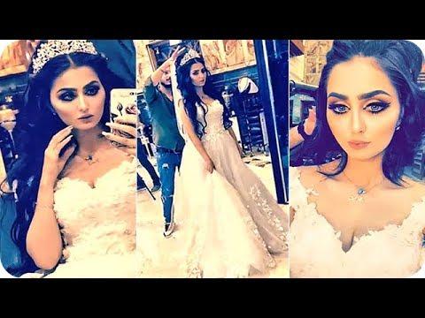 ملكة جمال العراق شيماء قاسم بفستان الزفاف