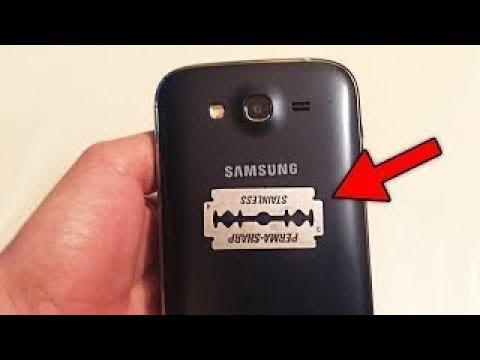 شاهد استخدام شفرة الحلاقة على الهاتف لتقوية إشارة الإنترنت