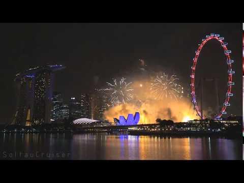 شاهد احتفالات سنغافورة بالسنة الجديدة 2018