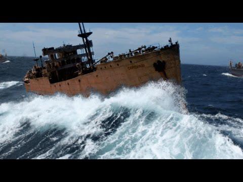 شاهد سفينة تخرج من مثلث برمودا بعد 90 عامًا