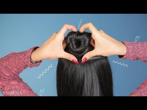 شاهد: تسريحات شعر مميزة للمدرسة على شكل قلب