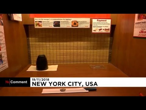 شاهد: سكينة غير معهودة في مطاعم يابانية وسط نيويورك