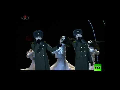 شاهد كوريا الشمالية تستقبل العام الجديد