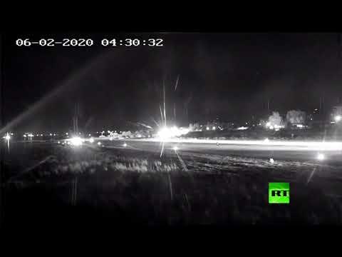 شاهد: هبوط طائرة ركاب قادمة من طهران في