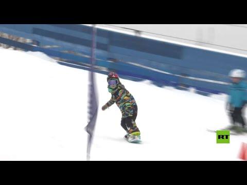 شاهدبطلة تزلج على الثلج عمرها 6 سنوات تحطم أرقاما قياسية