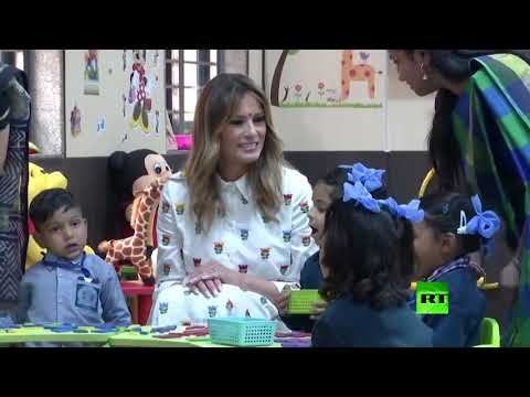 شاهد ميلانيا ترامب في صفوف السعادة في الهند