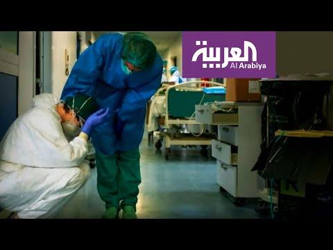 شاهد: صور تعب وإرهاق لأطباء وممرضين في إيطاليا بسبب