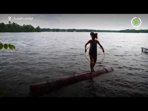 شاهد فتاة 14 عامًا تحصل على بطولة العالم في دحرجة جذوع الأشجار