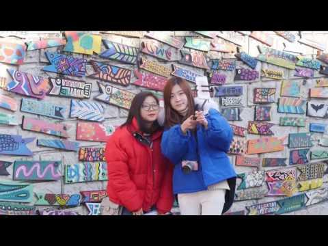 القرية الملونة في كوريا الجنوبية معرض مفتوح للفن