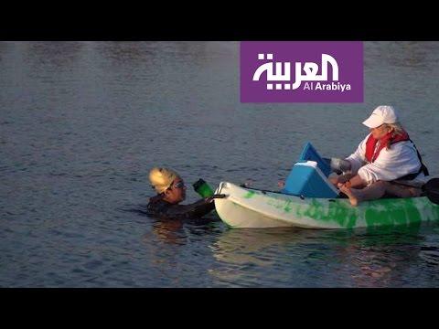 بالفيديو: السبّاحة السعودية مريم بن لادن تؤكّد أنها تسبح من أجل سورية